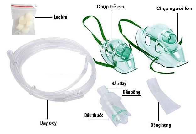 Các bộ phận của máy xông khí dung Domotherm Vital Plus